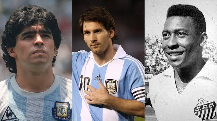Three of the greatest in history represented Argentina or Brazil