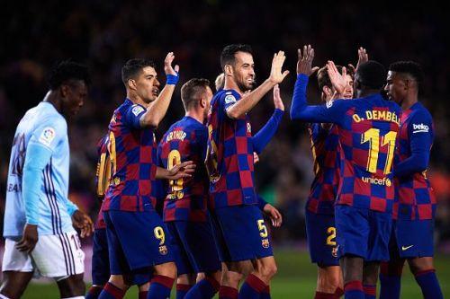 Barca got back to winning ways against Celta