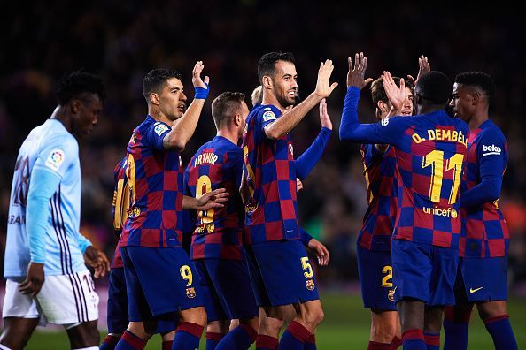 Barca got back to winning ways against Celta