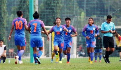 The Indian Women's football team.