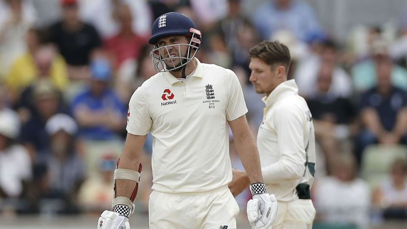 James Anderson in action during the Ashes