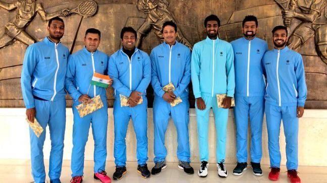 Indian Davis Cup team in Nur-Sultan