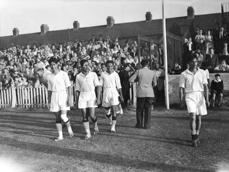 The Indian Football Team narrowly lost to France 2-1 in the 1948 Olympics.