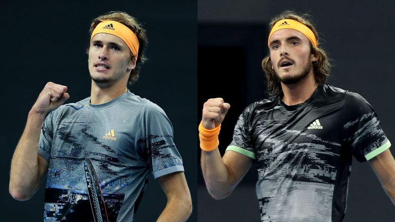 Sascha Zverev (left) and Stefanos Tsitsipas