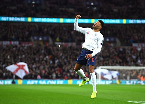 Alex Oxlade-Chamberlain marked his international return with a fantastic goal
