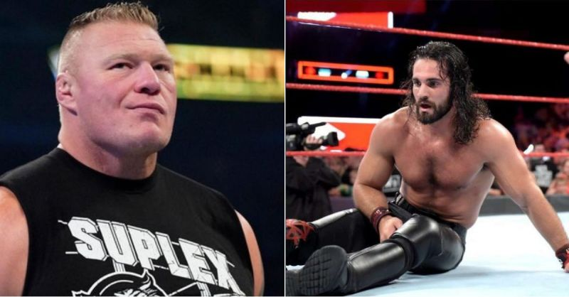Brock Lesnar and Seth Rollins