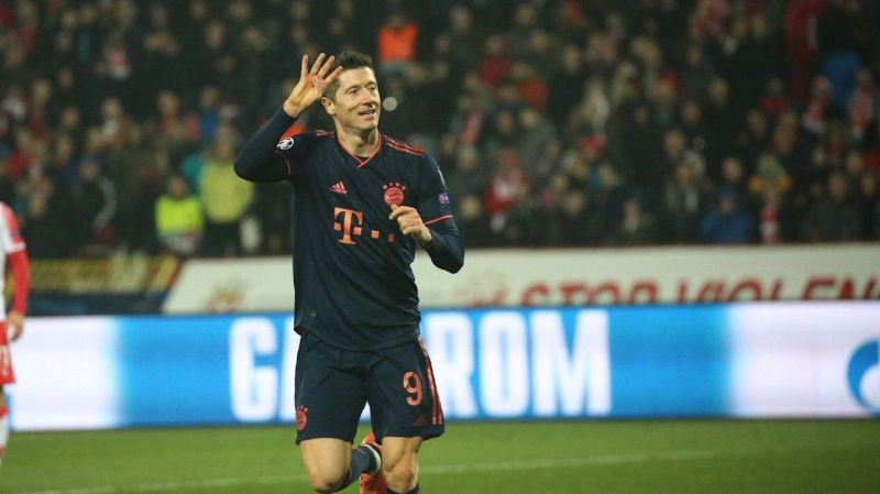 Lewandowski exults after his first 4-goal Champions goal hat-trick in 6 years
