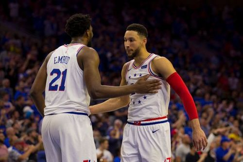 Embiid (left) and Simmons (right).