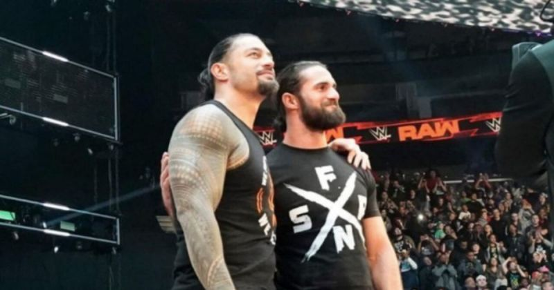 Roman Reigns and Seth Rollins.