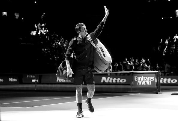 Roger Federer, through to his 16th ATP Finals semi-final.