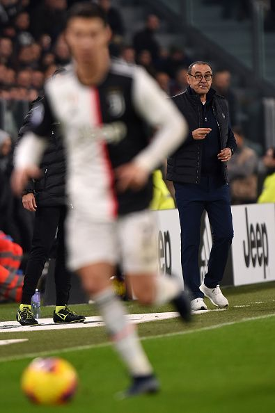 Ronaldo was substituted by Sarri for the second game in a row
