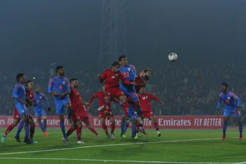 Seiminlen Doungel scored the equalizer against Afghanistan (Picture Courtesy :AIFF)