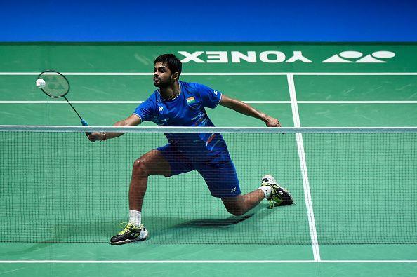 B. Sai Praneeth in action