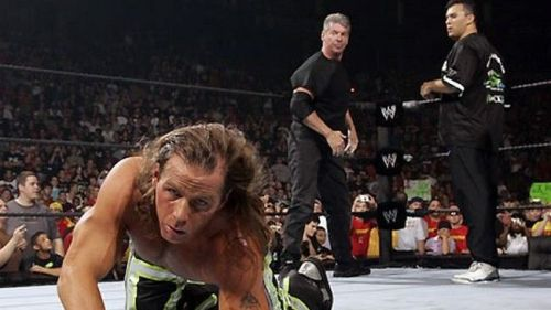 Shane O Mac teamed up with his father Mr. McMahon to take on Shawn Michaels and his partner