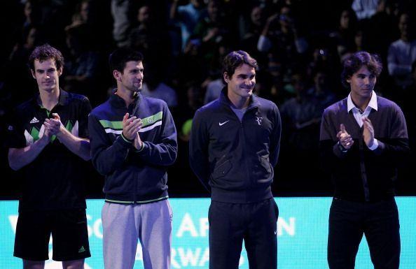 Andy Murray (L) struggled big-time against Federer, Nadal and Djokovic
