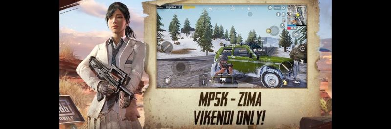 The new MP5K gun and Zima vehicle in PUBG Mobile