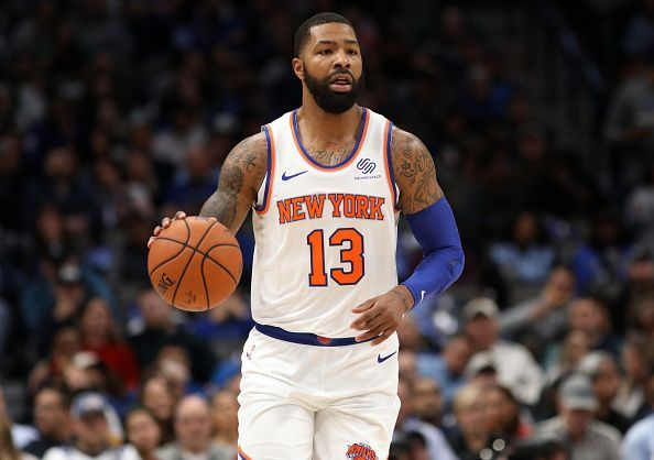 Marcus Morris in action for the Knicks this season
