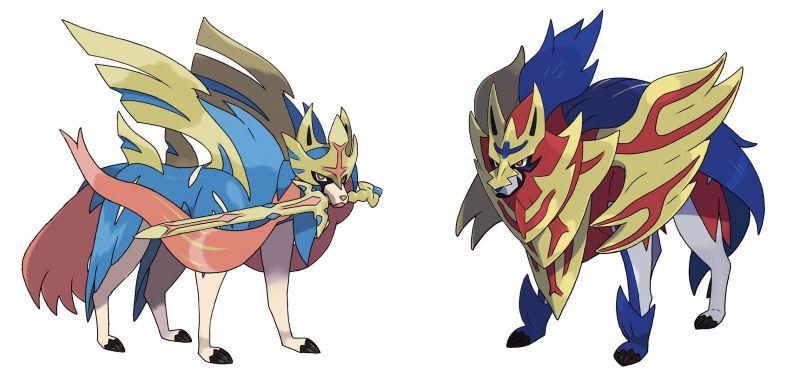 Left: Zacian - the mascot of Sword, Right:Zamazenta - the mascot of Shield