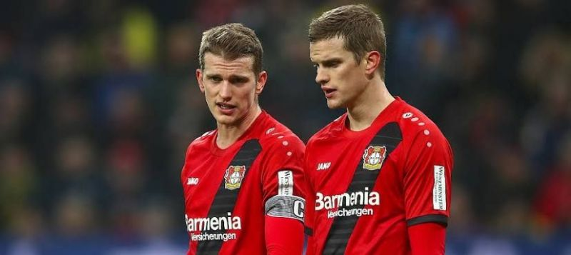 The Bender brothers in action for Leverkusen