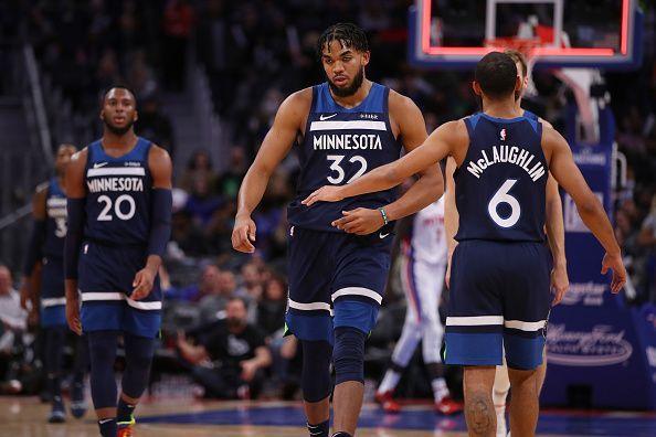 Minnesota Timberwolves v Detroit Pistons.