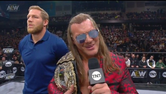 Chris Jericho was tricked into handing Scorpio Sky a title match next week!