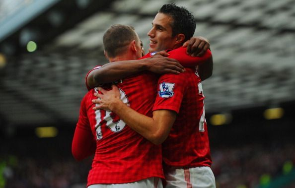Wayne Rooney and Robin van Persie.