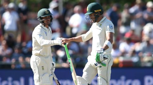 South Africa captain Faf du Plessis (right) and wicketkeeper-batsman Quinton de Kock