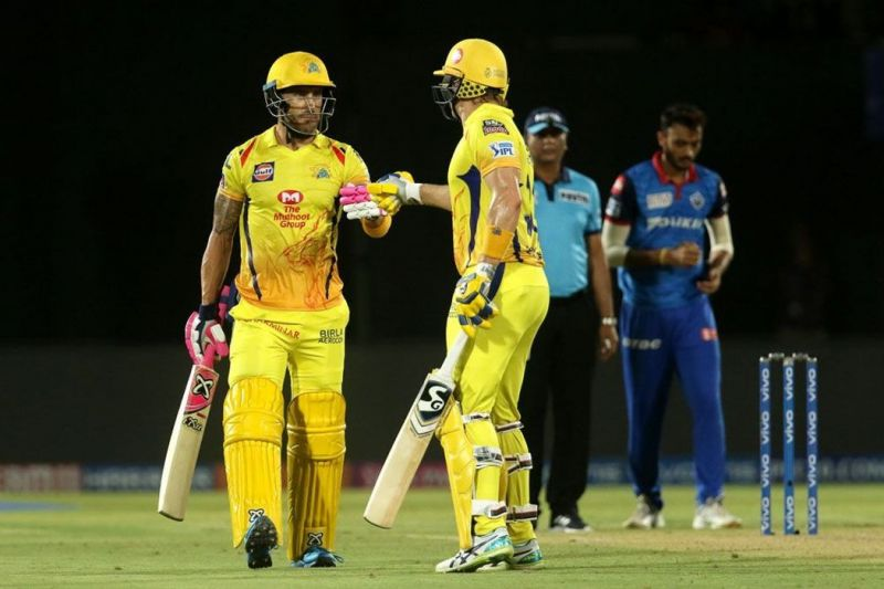 Faf du Plessis and Shane Watson (Image Courtesy: BCCI/IPLT20.COM)