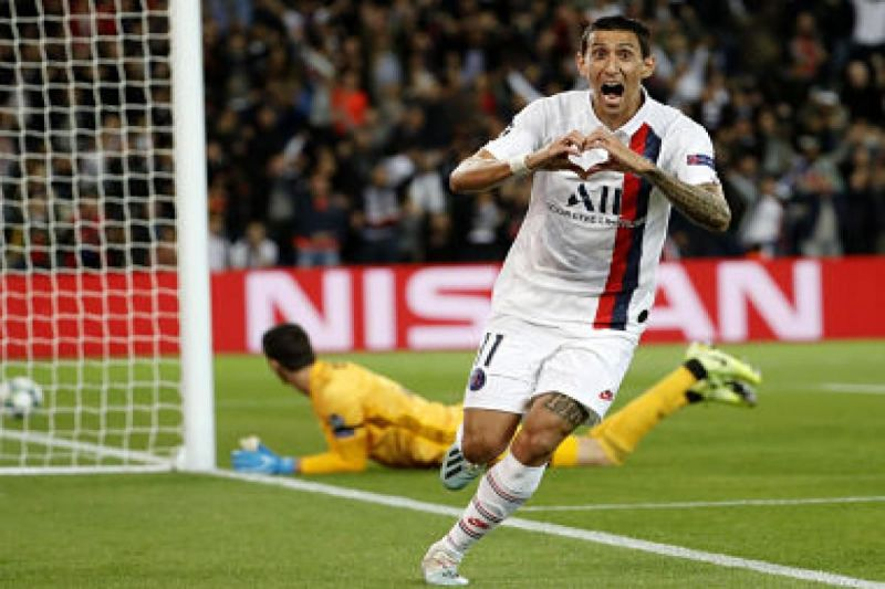 Angel Di Maria rejoices after scoring against his former club