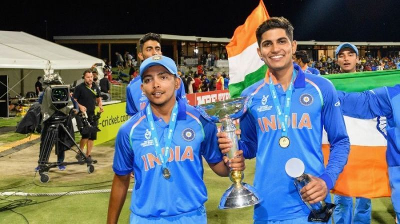 Prithvi Shaw (left) and Shubman Gill (right)