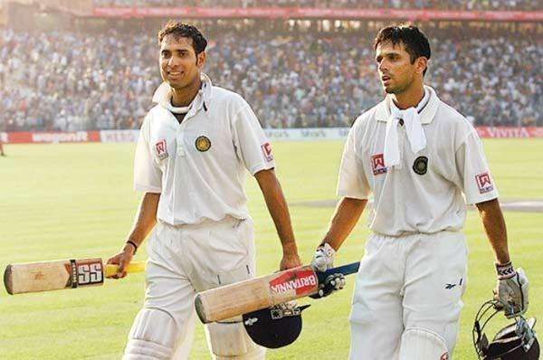 Laxman and Dravid during their famous partnership in 2001