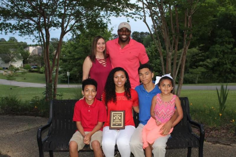 Aniah Blanchard with her family
