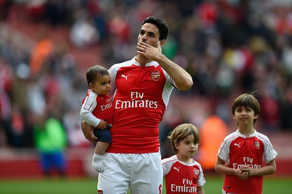 Mikel Arteta retired as a player with Arsenal