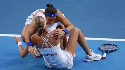 Caroline Garcia and Kristina Mladenovic - cropped