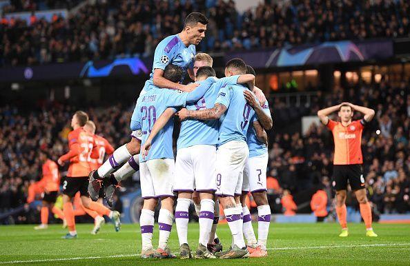 Manchester City celebrates Ilkay Gundogan