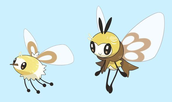 Cutiefly (L) and Ribombee (R)