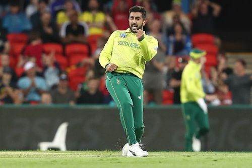 Tabraiz Shamsi has taken 4 wickets in 2 matches for the Paarl Rocks