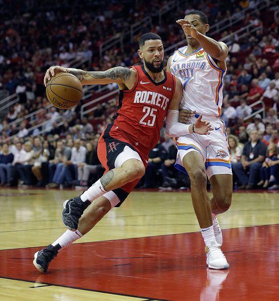 Oklahoma City Thunder v Houston Rockets.