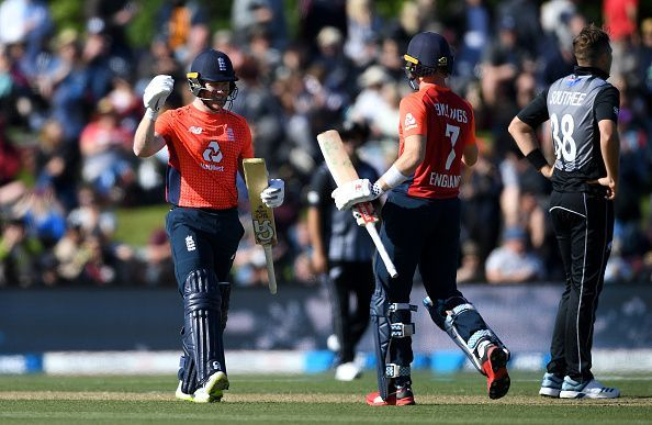 Eoin Morgan finished the match in style.
