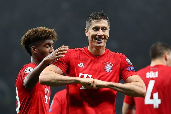 Robert Lewandowski scored a brace