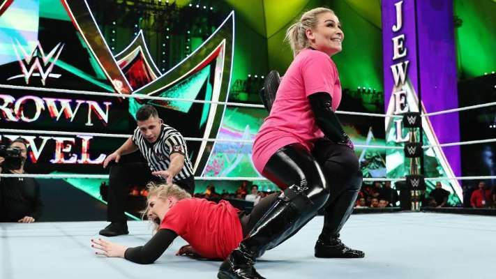Why was Nattie replaced by Becky Lynch this week on Monday Night Raw?