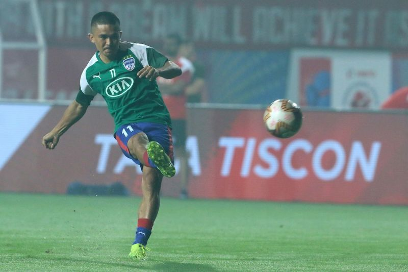 Sunil Chhetri has netted in all but one game for Bengaluru FC against Chennaiyin FC so far
