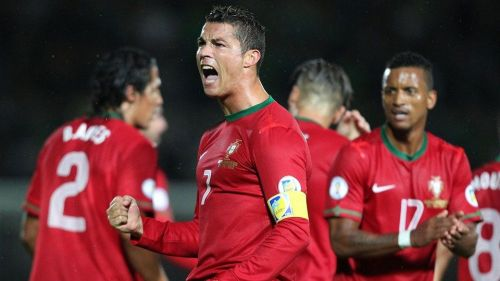Ronaldo celebrates one of his goals against Northern Ireland in a 2014 FIFA World Cup qualifier
