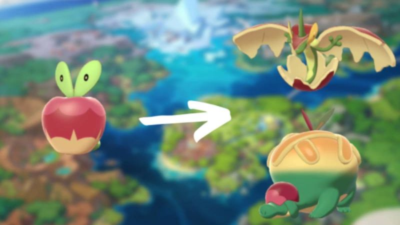 Applin evolves into two different Pokemon