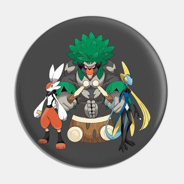 Fan art of the Final Evolutions: Cinderace, Rillaboom, and Inteleon