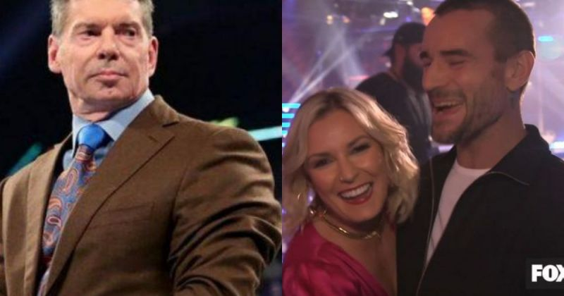 Vince McMahon, Renee Young and CM Punk.