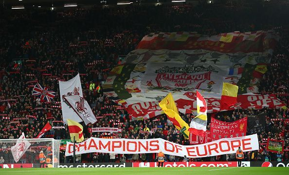 The famous Kop stand at Anfield, a stadium which Liverpool have made a fortress yet again