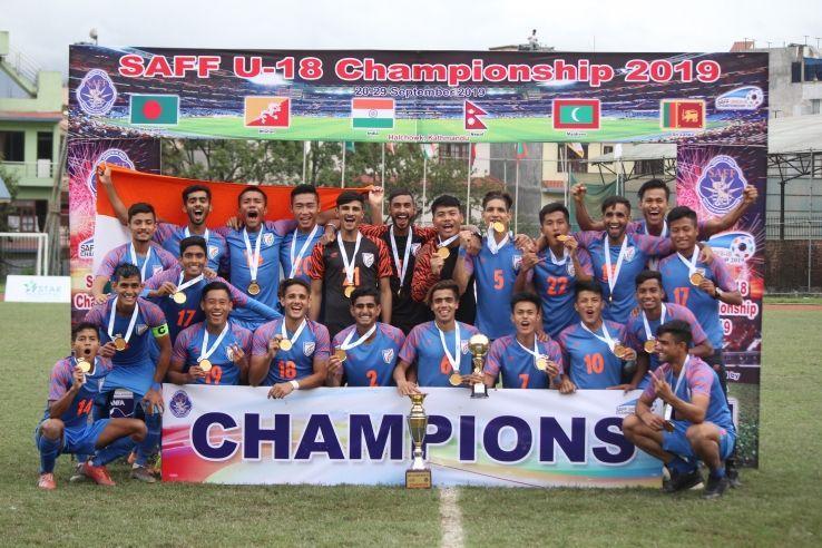 India U-19 players.