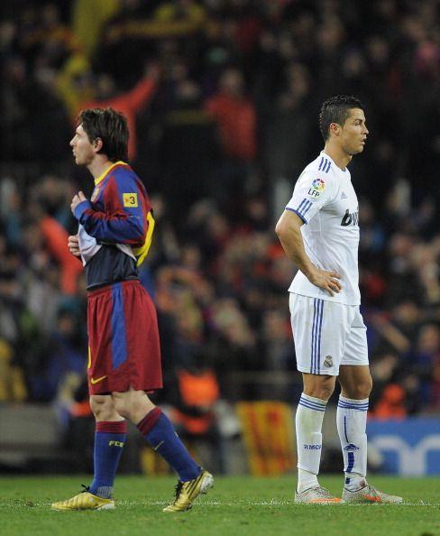 Lionel Messi (L) and Cristiano Ronaldo (R)