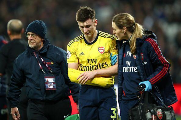 Kieran Tierney went off injured
